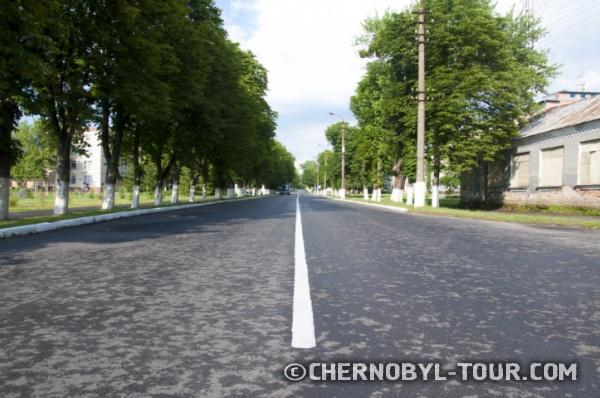 Фотография главной улицы Чернобыля